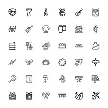 Editable 36 Drum Icons For Web And Mobile
