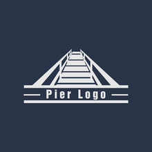 Pier Logo Design Vector