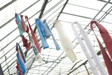 Strips Of Scrap Fabric Tied To...