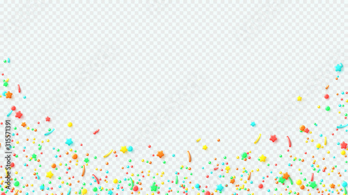 Decoration banner with colorful sprinkled sweets Fototapeta