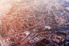 Top View Of Gdansk Old City, P...