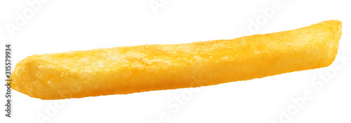 Fotografija french fries, potato fry isolated on white background, clipping path, full depth
