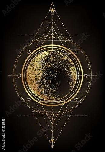 Foto Triple moon pagan Wicca moon goddess symbol
