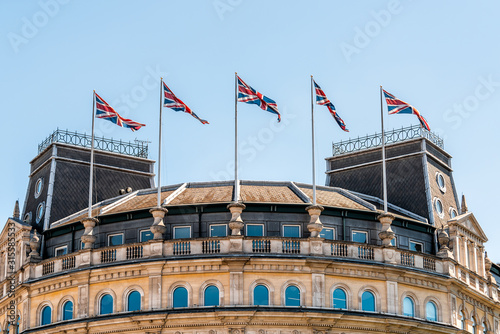 London, UK the grand building exterior in Trafalgar square in Great Britain with Canvas Print