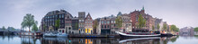 Cityscape Of Amsterdam With Re...