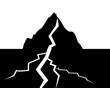 Illustration von Landschaft mit Erdbeben