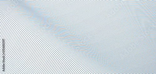 Obraz Abstract blue wave lines pattern on white background and texture. - fototapety do salonu