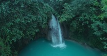 Waterfall In The Jungle Of The...