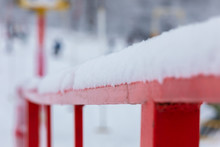 A Thick Layer Of Snow Poured O...