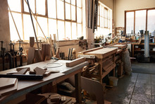 Workbenches Inside Of A Large ...