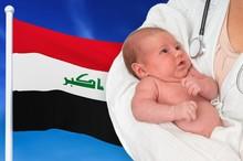 Birth Rate In Iraq. Newborn Ba...
