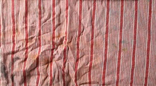 Dirty, Stained Striped Colorful Rag, Cloth For Cleaning Isolated On White Background