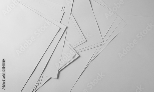 Fototapeta New blank paper sheets stack background and texture obraz