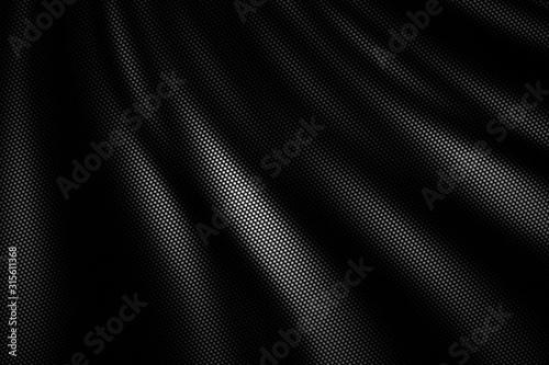 Canvastavla black wave carbon fiber. metal background and texture.