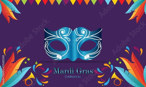 Photo Mardi gras carnival party design