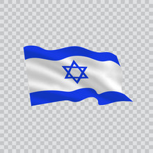 Flag Of Israel Country On Tran...