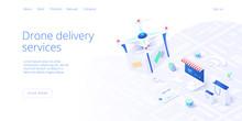 Drone Delivery Service Concept...