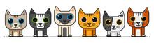 Vector Cartoon Cat Collection 3