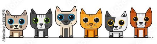 vector cartoon cat collection 3 Wallpaper Mural
