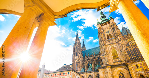 Prague city and St Vitus Cathedral Wallpaper Mural