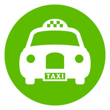 Old Style Taxi Vector Icon