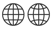 Line Globe Vector Icon