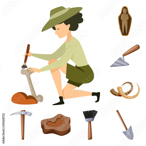 Photo Vector design of archaeology and historical logo