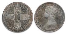 Queen Victoria Silver Crown Coin
