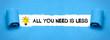 Leinwanddruck Bild - All you need is less