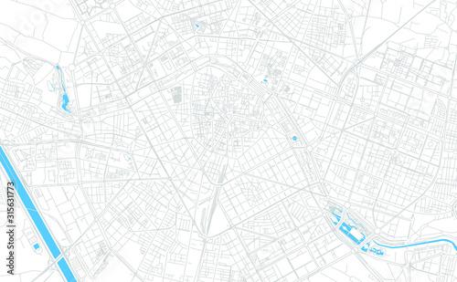 Valencia, Spain bright vector map