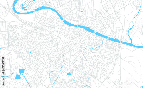Zaragoza, Spain bright vector map