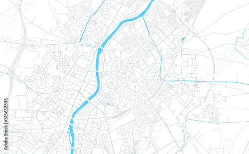 Valladolid, Spain bright vector map
