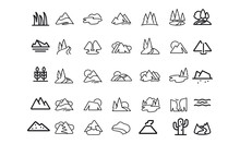 Mountains And Trees Vector Des...