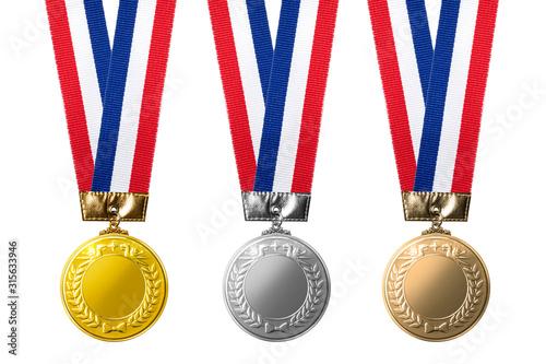 Photo 金、銀、銅のメダルのイメージ素材
