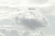 Leinwanddruck Bild - Weisse Wolken, Grauer Himmel Hintergrundbild, Deutschland, Europa