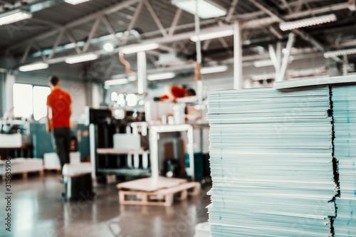 Fotografía Picture of printing shop interior