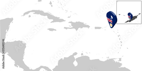 Photo Location Map Anguilla on map Central America