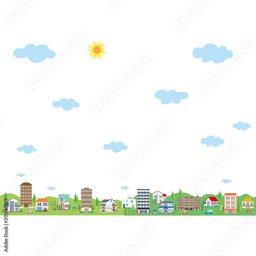 Obraz na plátne  幸せな街並み