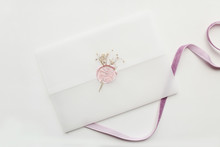 White Envelope With Pink Wax S...