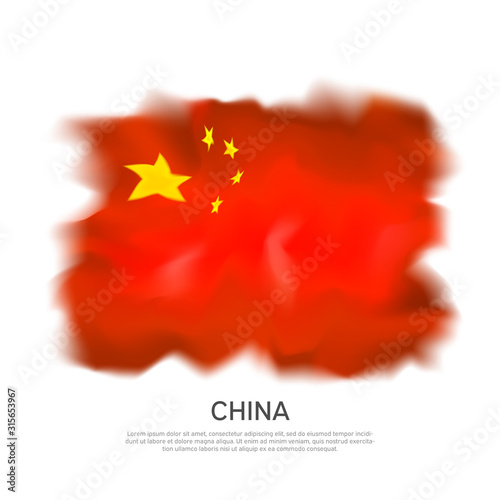 Photo China abstract flag on white background for celebration design