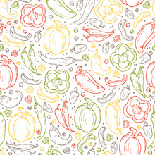 Vegetables And Spices Vector S...