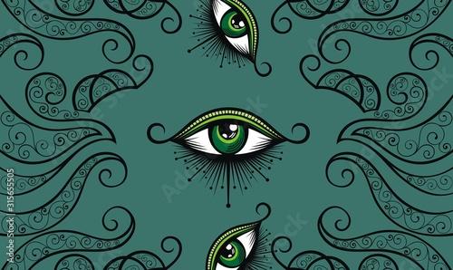 Fotografia, Obraz All seeing eye symbol. Vision of Providence