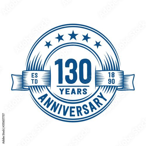 Cuadros en Lienzo 130 years logo design template