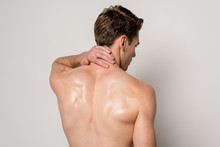Back View Of Man Having Neck P...