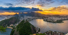 Sunset View Of Copacabana, Cor...