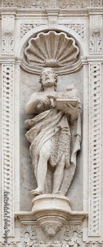 ACIREALE, ITALY - APRIL 11, 2018: The statue of St Canvas Print