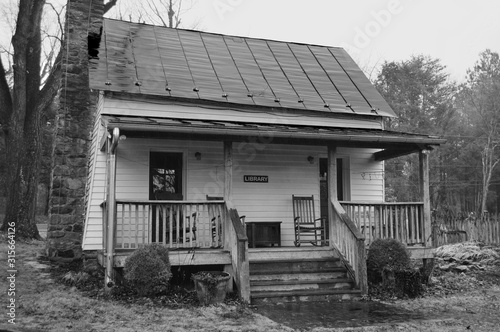 Rural library in the Blue Ridge Mountains of Virginia Fototapet