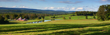 Panoramic View Of Rural Farmland In Sussex County New Jersey USA