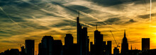 Silhouette Of Frankfurt Am Mai...