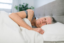 A Senior Woman Having Sleep Di...